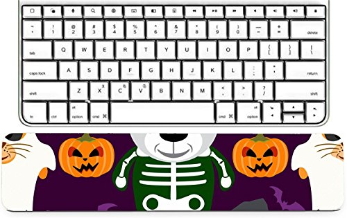 Luxlady Keyboard Wrist Rest Pad Long Extended Arm Supported Mousepad IMAGE ID: 31870698 Halloween background seamless with animal in Halloween costume -