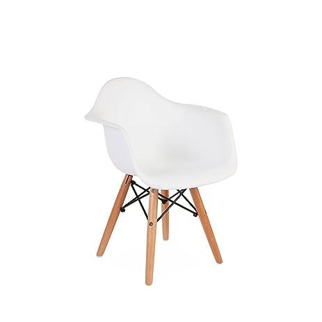 amazon com kids eames style daw chair white kitchen dining