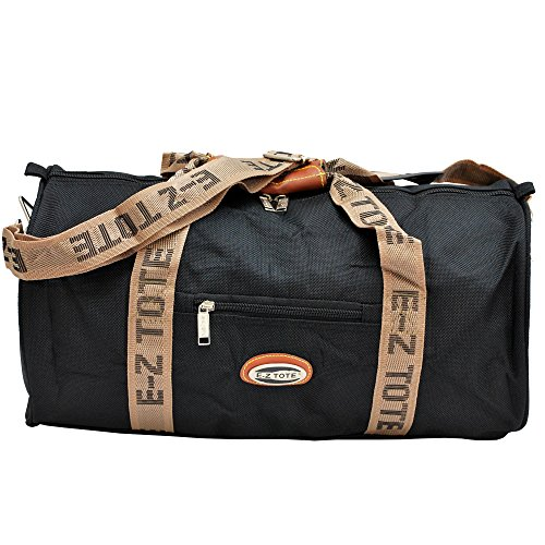 "Price comparison product image ""E-Z Tote"" Sports Duffel Bag/All Purpose Duffel bag Size 18""/24"" in 2 Colors (18"", Black)"