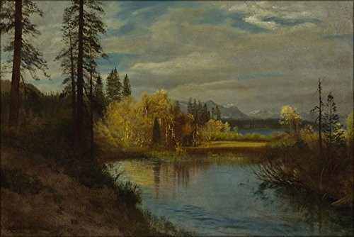 24x36 Poster; Albert Bierstadt - Outlet At Lake - Outlets Lake Tahoe