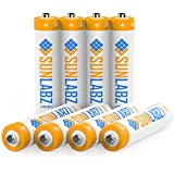 SunLabz Rechargeable Batteries, Ultra-Efficient NiCD AAA (8 Pack)