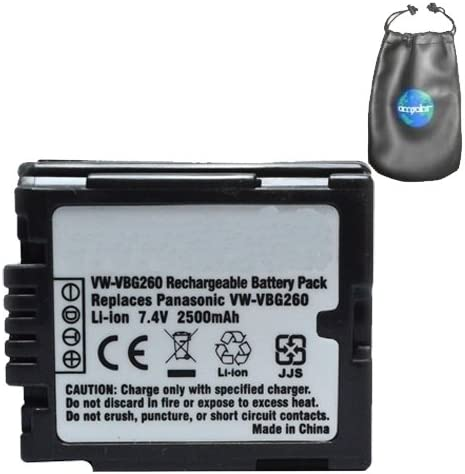 Amazon Com Digital Replacement Camera And Camcorder Battery For Panasonic Vw Vbg260 Vbg070 Includes Lens Pouch Digital Camera Batteries Camera Photo