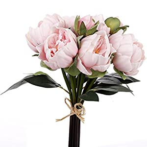 PU Real Touch Artificial Simulation Peony Bouquet For Party Wedding Home Decoration-Bunch of 6 65