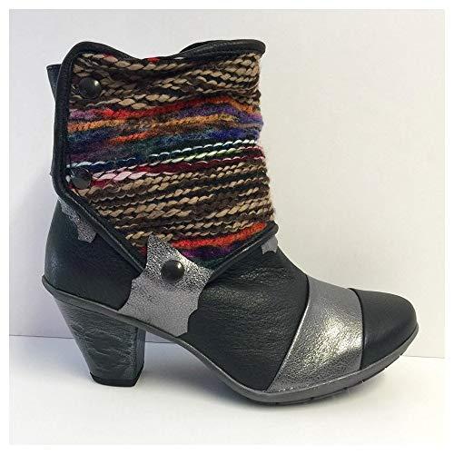 silver Maciejka Botas Negro Mujer Leather Para Black qnn4rxdBX