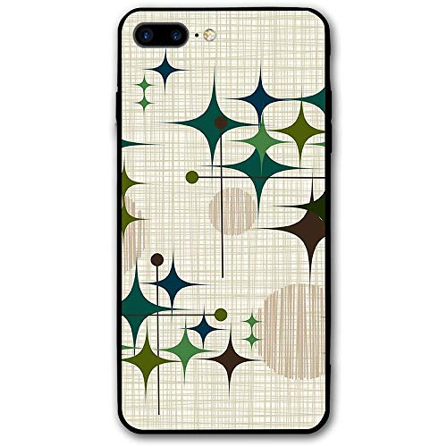 Eames Era Starbursts And Globes Custom IPhone 8 Plus/iPhone 7 Plus Case Phone Case Cover, Flexible Soft Slim Fit Full Protective Shell Phone Case For Girl Woman (Eames Era Design)