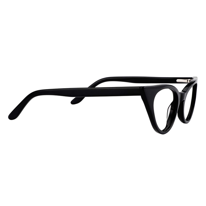 bf1b7a3a13 Amazon.com  Zeelool 1960 s Retro Acetate Small Cat Eye Glasses Frame for  Women Marilyn FP0045-01  Clothing