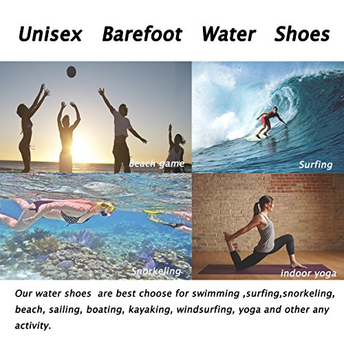 GUPYING Womens and Mens Summer Outdoor Water Shoes Aqua Socks for Beach Swim Surf Yoga Exercise (M(W:7.5-8.5,M:6.5-7.5), Blue) 38-39 by GUPYING (Image #7)