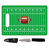 Unique Football Party Supplies Gift Football Cutting Board Tailgating Gear Party Supplies Football Fans Men Husband Grandpa with Paring Knife & Cover Best Back to School College Supplies