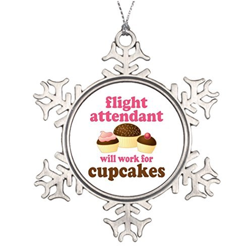 ances Lincoln Xmas Trees Ornament Tree Decorated Funny Chocolate Cupcakes Flight Attendant Halloween Snowflake Ornaments Tree Decor]()