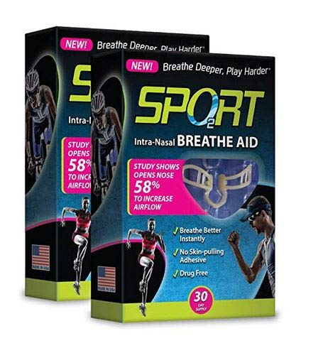 eathe Aids from SleepRight Breathing Aids for Sports Nasal Dilator for Athletes (2-Pack) ()