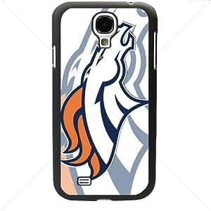 NFL American football Denver Broncos Samsung Galaxy S4 SIV I9500 TPU Soft Black or White case (Black)