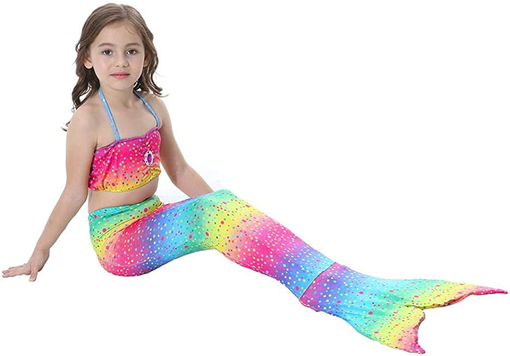 Occitop Kids Rhinestone Girls Glitter Bikini Set Split Swimsuit Beach Swimwear