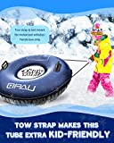 QPAU Snow Tube, Larger 50 Inch Inflatable Snow Sled