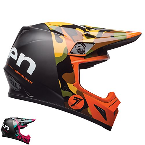 Bell Unisex-Adult Off Road Helmet (Seven Soldier Magenta, X-Large) (Mx-9 mips D.O.T - International Magenta