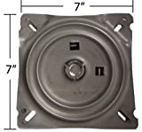 Bar Stool Parts 7 Inch Replacement Angled Bar Stool Swivel Plate with Memory Auto Spring Self Return Feature - S4938