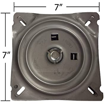 7 Inch Replacement Angled Bar Stool Swivel Plate with Memory Auto Spring Self Return Feature -  sc 1 st  Amazon.com & Amazon.com: Fasmov 7