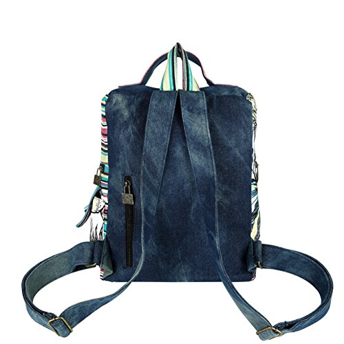 nbsp; Voyage A A Pack à bandoulière double Sac denim air École bag nbsp;Shoulder dos sac à fOpUwq6R