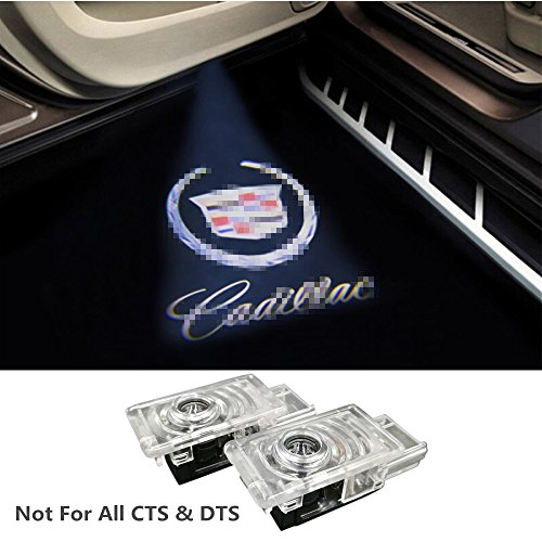 2 Pcs Car Door Welcome LED LOGO Shadow Light Easy Installation for Cadillac Laser Projector Ghost Light Fashion Door Lamp