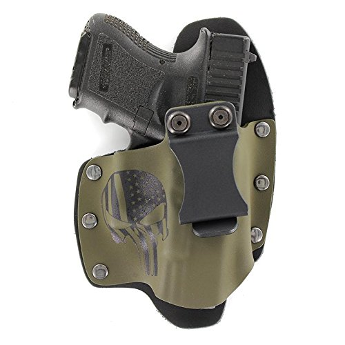 Infused Kydex USA Punisher OD Green IWB Hybrid Concealed Carry Holster (Right-Hand, CZ 75 Compact P-01) (Best Iwb Holster For Cz 75 Compact)