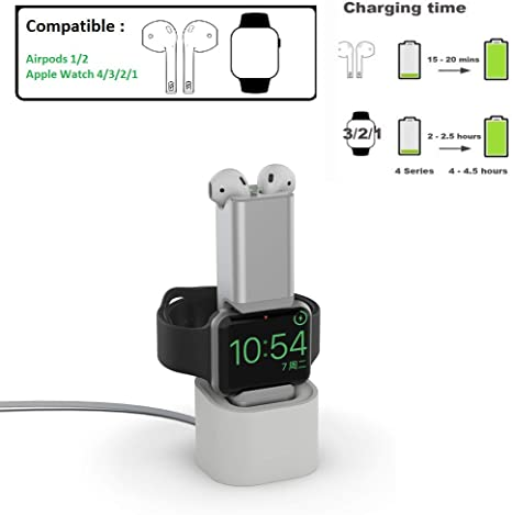 Charger for AirPods pro//1//2 Seltureone Folding 3 in 1 Wireless Charger Station for iWatch Series 5//4//3//2//1 Updated 2020 Version Qi Fast Wireless Charging Stand Compatible iPhone 11//11 Pro//X//XR//XS