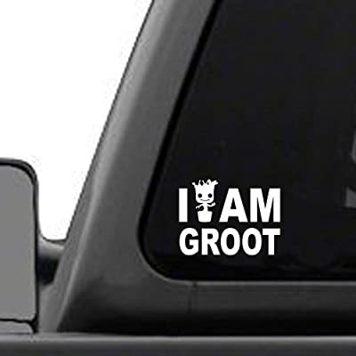 """Signage Cafe I Am Groot – 4"""" Wide x 3"""" Tall, Vinyl Decal - for Windows, Cars, Trucks, Tool Boxes, laptops and Tablets: Automotive"""