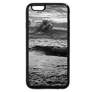 iPhone 6S Case, iPhone 6 Case (Black & White) - dark blue sea
