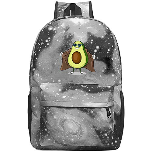 (XKSJSB Avocado Exhibitionist in Raincoat Galaxy Laptop Backpack, Star Water Resistant College Students Travel Computer Notebooks Backpack for Men Women Gray )