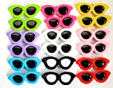 Yagopet 30pcs/pack New Dog Hair Clips Sunglasses Style Cute Dog Pet Hair Clips Mix Colors and Cute Bowknot Bows Pet Grooming Products Mix Colors Pet Hair Bows Topknot Alloy Clips