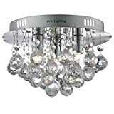 Crystals Droplet Chandeliers Ceiling Lights by Laeto Lighting ideal for Modern Living Room Hallway Compatible with LED