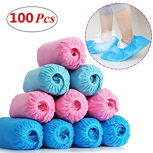 Yamde 100 Pcs Disposable Polypropylene Boot & Shoe Covers - Halloween Costumes Nz Cheap