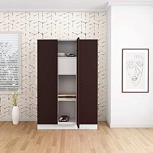 GODREJ INTERIO Slimline 3 Door Steel Almirah with Locker in Russet