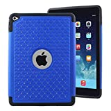 quilted case ipad air - iPad Air 2 Case - Blue, MPERO Series IMPACT XB Crystal Jeweled Bling Dual Layered Shock Absorbing Hybrid Case for Apple iPad Air 2