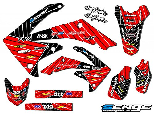 Senge Graphics Kit Compatible with Honda 2003-2013 CR 85 Race Series Red Graphics kit ()