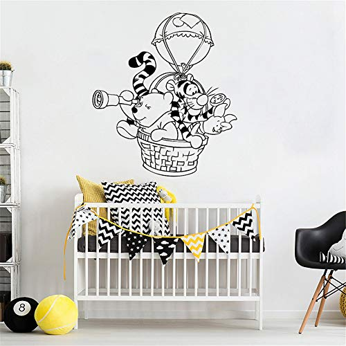 Winnie The Pooh Wall Decal Sticker Wall Decal Hot Air Balloon Vinyl Stickers for Kids Room Nursery Bedroom Home