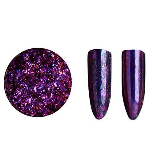 (HCFKJ Glitter Aluminum Flakes Magic Mirror Effect Powders Sequins Nail B)