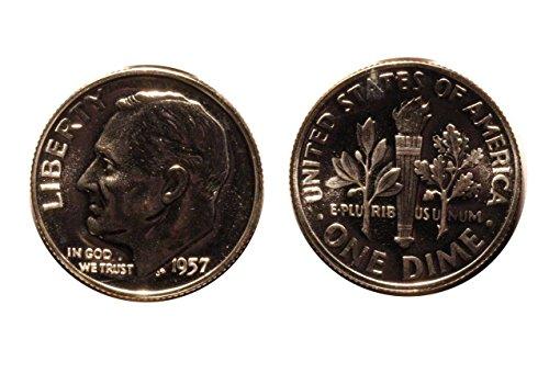 1957 1958 1959 Silver Roosevelt Dimes 3 GEM PROOF Coins