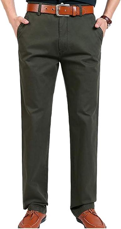 Yuanu Pantalon Cargo Hombre Pantalones Casuales Rectos Sueltos Algodon Finos Pantalon Para Hombre Formales Color Solido Multibolsillos Tipo Pants Amazon Es Ropa Y Accesorios