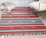 Cheap Nourison Baja Area Rug, 5'x7′ , GRAY/RED