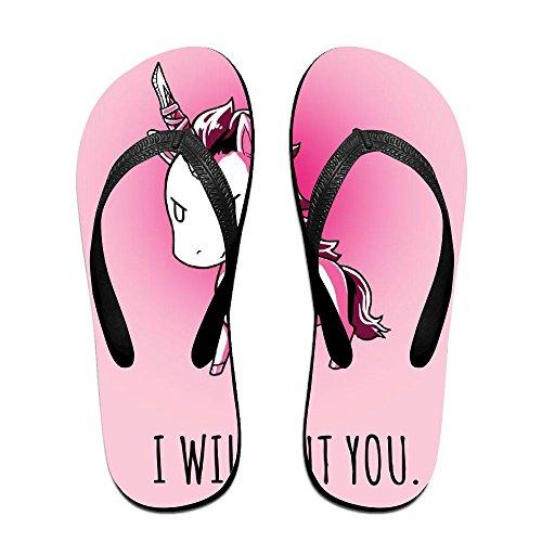 FPDragon Unicorn Pink Cool Unisex Soft Flip-flops Beach Sandals Slippers Classical Thong Sandals WkvzkJ3n