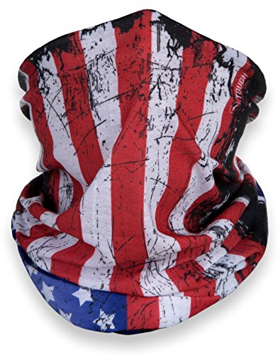 American Flag Outdoor Face Mask - Wear it Motorcycle Riding, Skiing, Snowboarding, Hiking & More - 100% Seamless Microfiber