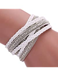 Susenstone Women Bohemian Bracelet Woven Braided Handmade Wrap