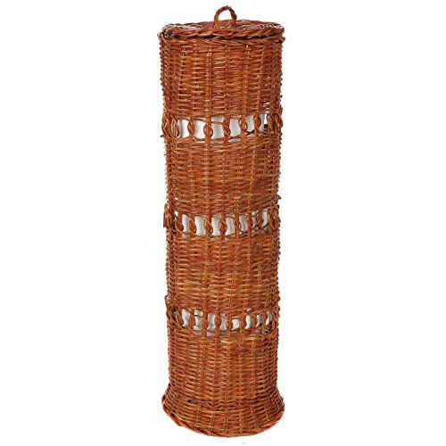 Trenton Gifts Natural Wicker Toilet Tissue Holder | Free Standing | 19 1/2