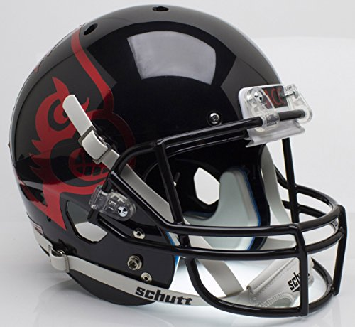 NCAA Louisville Cardinals Black Replica Helmet, One Size, White