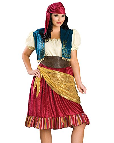 Plus Size Gypsy Costume Sexy Dress Peasant Complete Womens Theatrical Costume Sizes: 3X (Plus Size Renaissance Wench Costume)