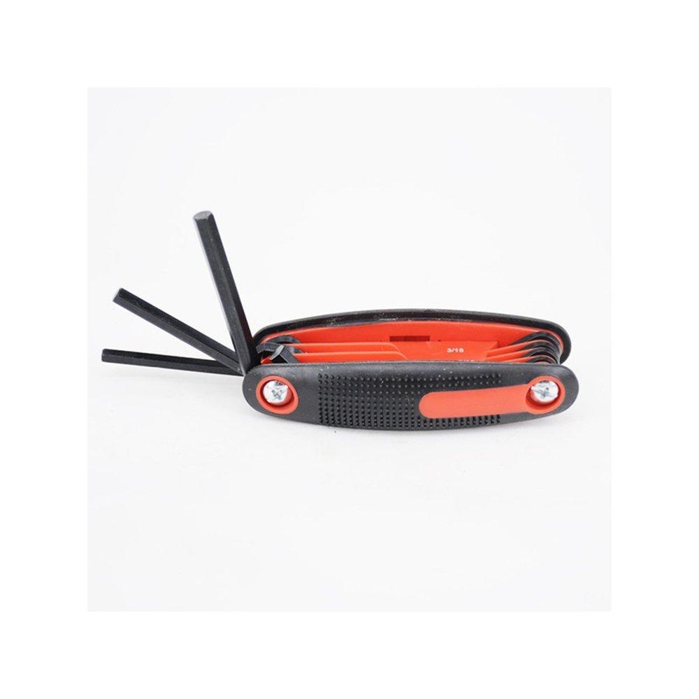GFEU Archery chiave esagonale, universale 9in 1pieghevole chiave a brugola set ideale per fissare la riparazione arco Compound, Red