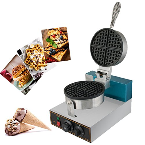 Waffle Maker, Zinnor Stainless Steel Waffle Bake Machine,110V Non-stick Plates Electric Egg Cake Oven Puff Bread (Best Cast Iron Pizzelle Iron)