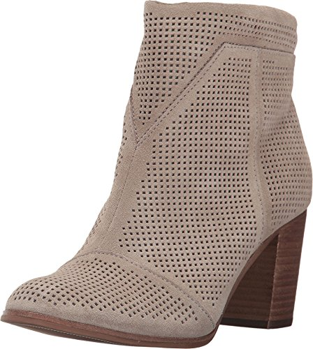 TOMS Women's Lunata Bootie Desert Taupe Suede Perforated Boot
