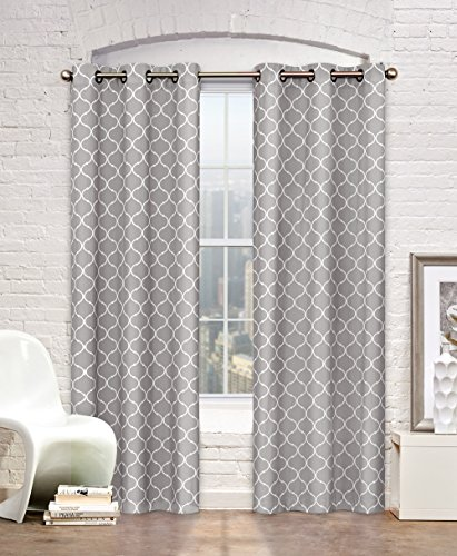 Regal Home Collections Maison Grommet Panel Pair (Set of 2), 76″ by 84″, Grey