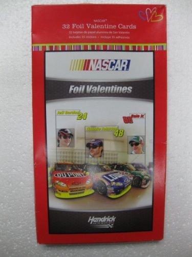 Nascar Racing Foil Valentine Cards for Kids (10000209)