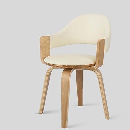 amazon com lhcy solid wood swivel chair armchair computer chair